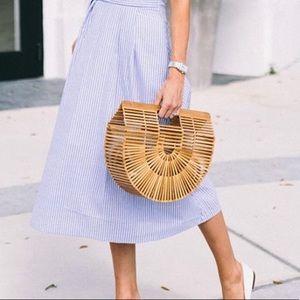 Summer bamboo wooden handmade bag
